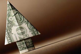 Оригами из долларовой купюры