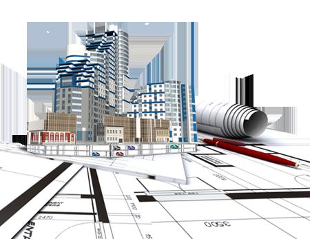 Макет строительства микрорайона